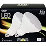 Feit BR40/DM/LEDG3/2 Br40 LED Light, Fully Dimmable, 2-Pack