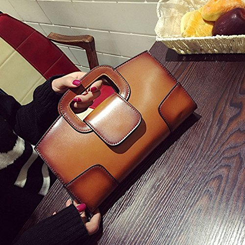 brown Ladies' Leather Shoulder Chain Evening Bag Handbag Brown Crossbody With Women Strap For Clutch rr5w7qxg