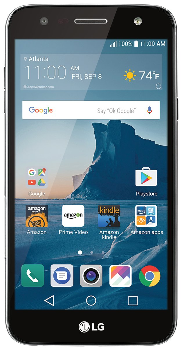 LG X charge - 16 GB – Unlocked (AT&T/Sprint/T-Mobile) - Titanium - Prime Exclusive - with Lockscreen Offers & Ads