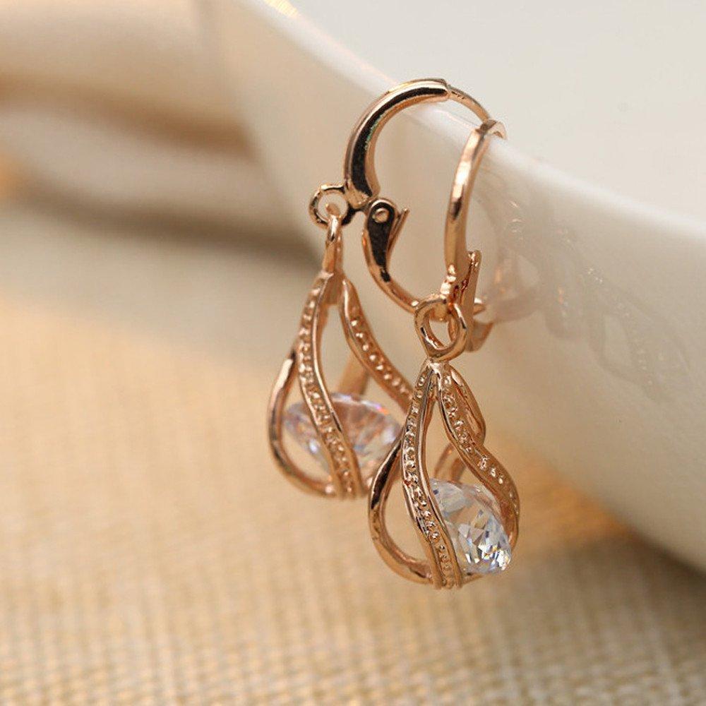 Women Girls Drop /& Dangle Earrings Water Drop Zircon Micro-Inlay Earring Gold Plated Colors Cubic Zirconia Pendant Earrings Jewelry Accessories Gifts
