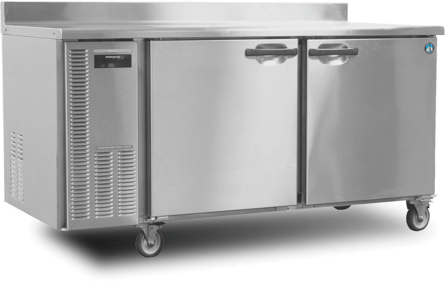 HWF68A 68'''' Professional Series Worktop Freezers with 18.8 cu. ft. Capacity EverCheck System Stainless Steel Interior and Exterior Removable Refrigeration System and Energy Efficient Automatic Hot Gas condensate Evaporator: Stainless Steel