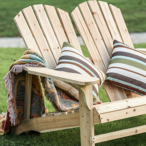 Home Yard Outdoor Living Leisure Fir Wood Double Recliner Seat, 50.4''× 35''× 34.3'' by Sonmer (Image #2)
