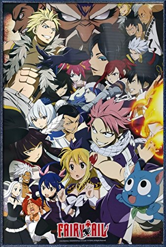 Fairy Tail - Framed Anime TV Show Poster / Print (Fairy Tail Vs. Other Guilds - Character Collage) (Size: 24