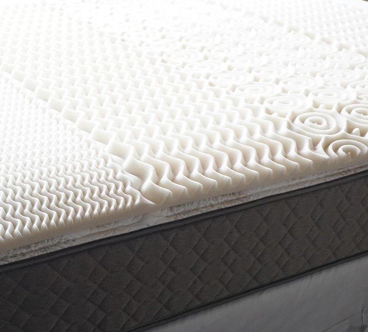 Amazon.com: 5 Zone Egg Crate Memory Foam Twin XL Topper: Home & Kitchen
