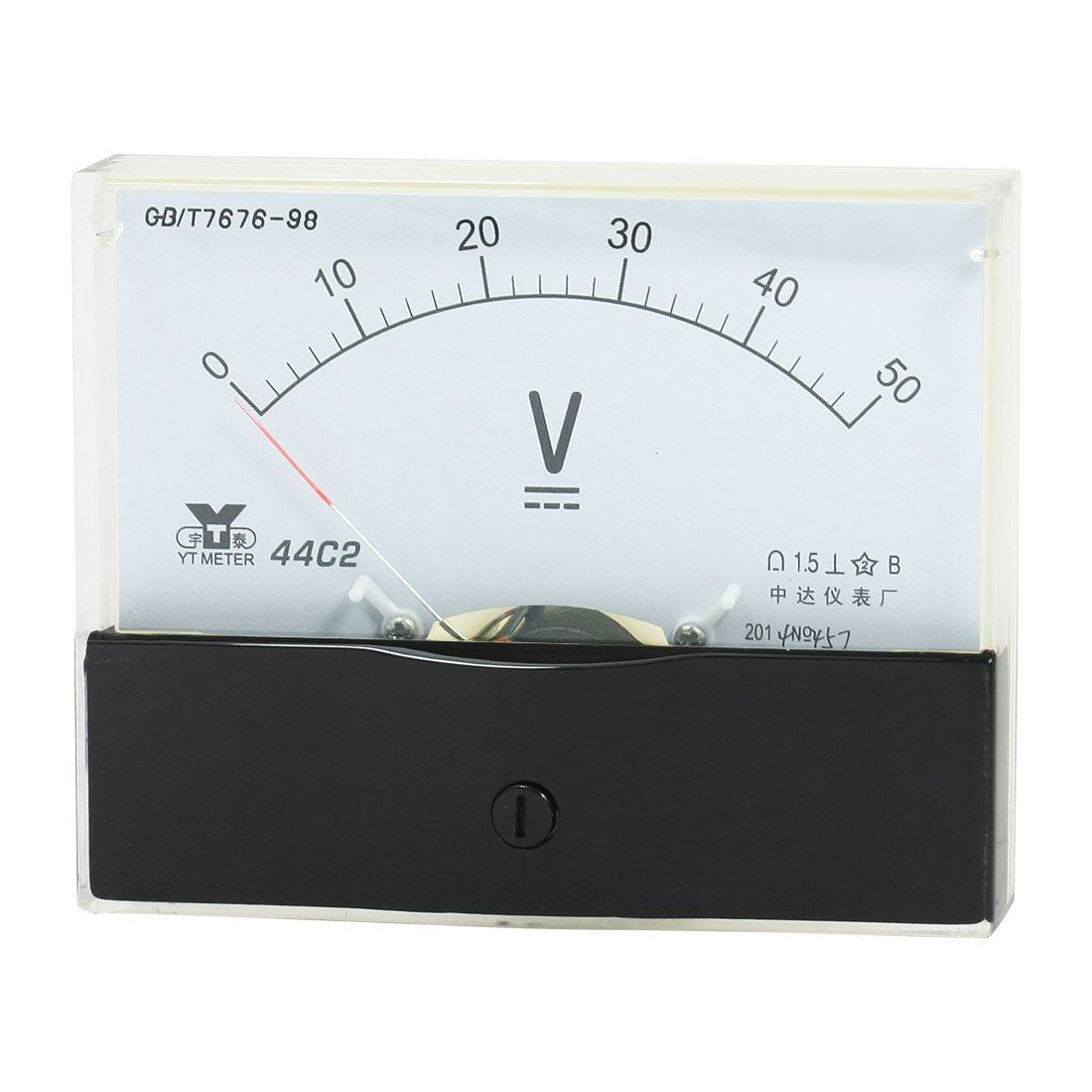 50 V 44C2 de gamme Analog Clothing Panel Voltm/ètre DC Voltm/ètre 0