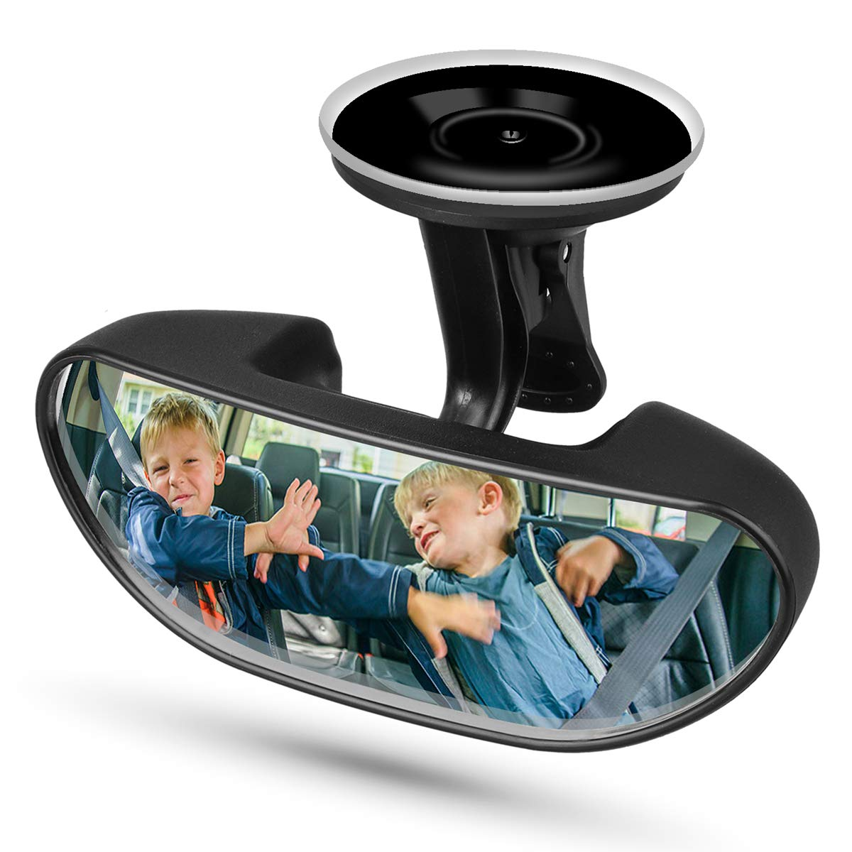 Adjustable Forward Baby Mirror with 360 Degree Adjustable Strengthen Suction Cup Backseat Mirror Baby Car Rearview Mirror Universal Car Rear View Mirror