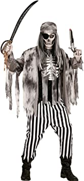 NET TOYS Traje Pirata Zombie Disfraz bucanero Fantasma M 50 ...