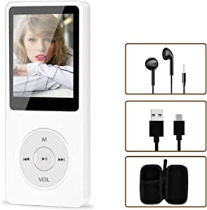 Portable MP4/MP3 Player, Aigital HiFi Music Adapter Built-in 16GB Memory Can Expand to 128GB, Economic Multifunctional Mini Music Player with Earphones, Video/Photo/FM Radio/Record Function Supported