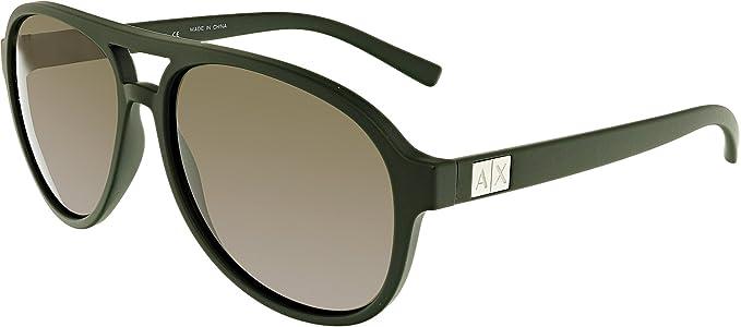 bae77cd41d66f Armani Exchange AX 4055S Sunglasses 819673 Matte Dark Green 58-15-140  Armani  Exchange  Amazon.co.uk  Clothing