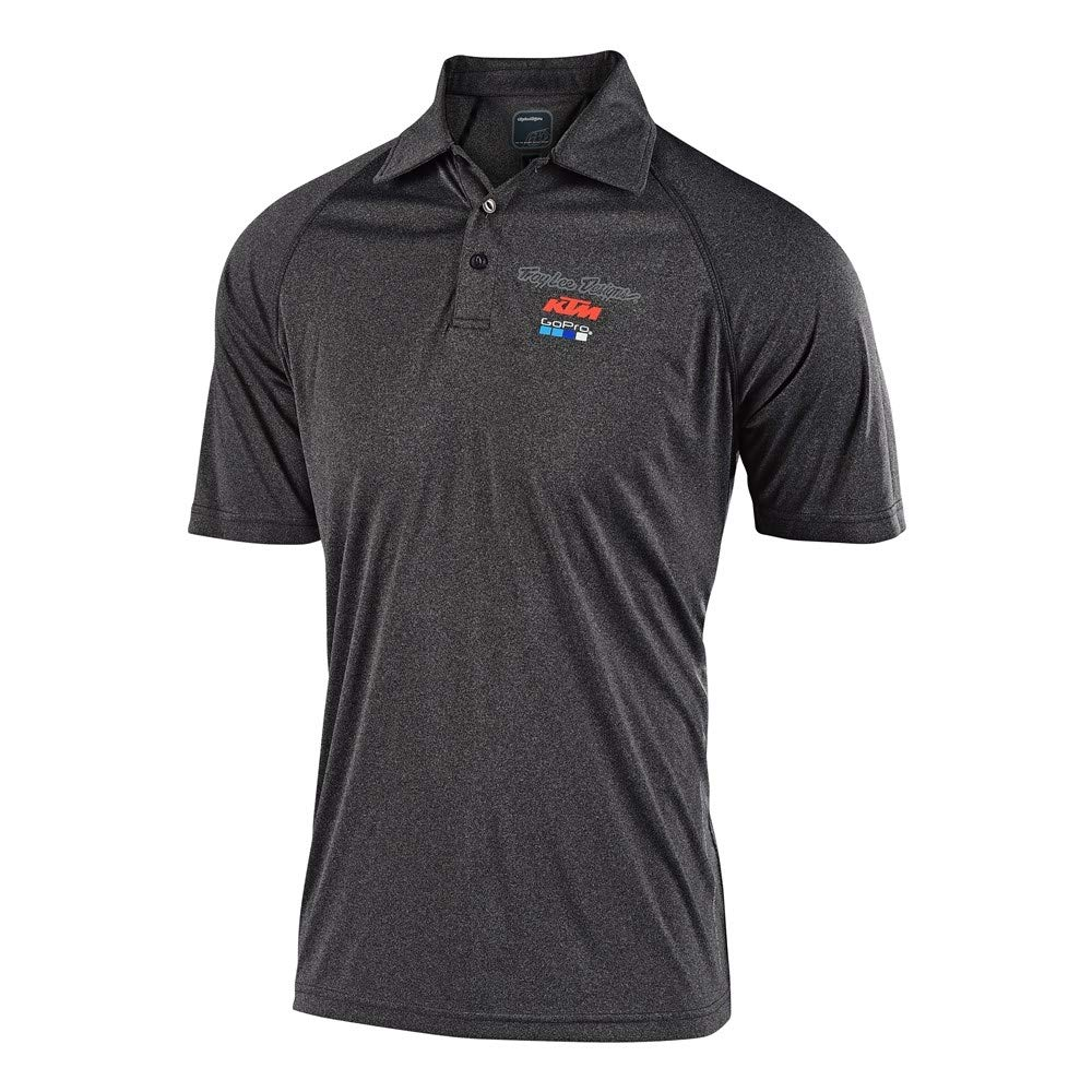 CHARCOAL HEATHER 759740006 Troy Lee Designs 2019 KTM Team Event Polo XX-LARGE