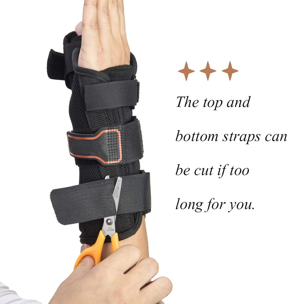 Thumb & Wrist Spica Splint, Adjustable Supportive Wrist Braces for Arthritis, Carpal Tunnel, Soft Tissue Injuries & Trigger Thumb Immobilizer Medium-Left by Medibot (Image #7)