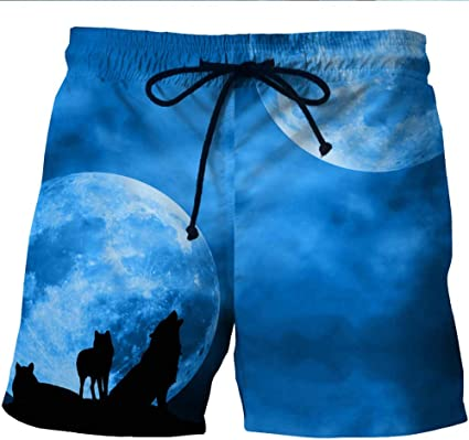 Mens Starry Sky Summer Holiday Quick-Drying Swim Trunks Beach Shorts Board Shorts