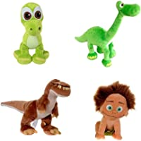 Set of 4 The Good Dinosaur Disney Plush Dolls Arlo,Spot, Baby Arlo & Butch