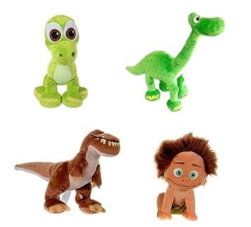 Set of 4 The Good Dinosaur Disney Plush Dolls Arlo,Spot, Baby Arlo &