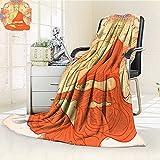 Digital Printing Blanket Yoga Meditation Aura Thai Temple Ornamental Motive Spiritual Design Print Orange Summer Quilt Comforter