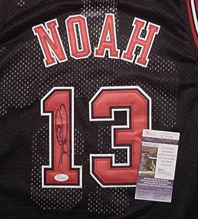 Image Unavailable. Image not available for. Color  Joakim Noah Chicago  Bulls Autographed Mesh Black  13 Jersey JSA COA 69b7f64a4