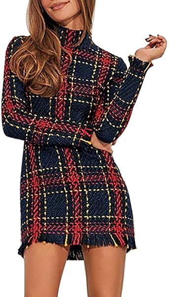 YULINGSTYLE elegancka sukienka damska w kratkę w szkocką sukienka koktajlowa sukienka imprezowa sukienka wieczorowa sukienka koktajlowa na imprezę maxi suknia wieczorowa sukienka na imprezę sukienka balowa