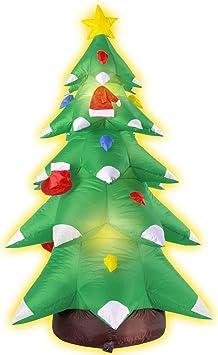 NET TOYS Árbol Inflable de Navidad Iluminado Brillante Pino decoración