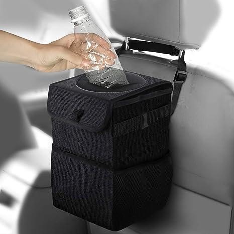 Amazon.com: Frebw - Papelera para coche con tapa, bolsa de ...