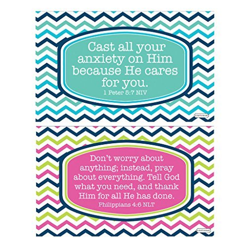 Alex Cast Cares And Dont Worry 3 X 5 Vinyl Inspirational Sticker Decals 2 Pack