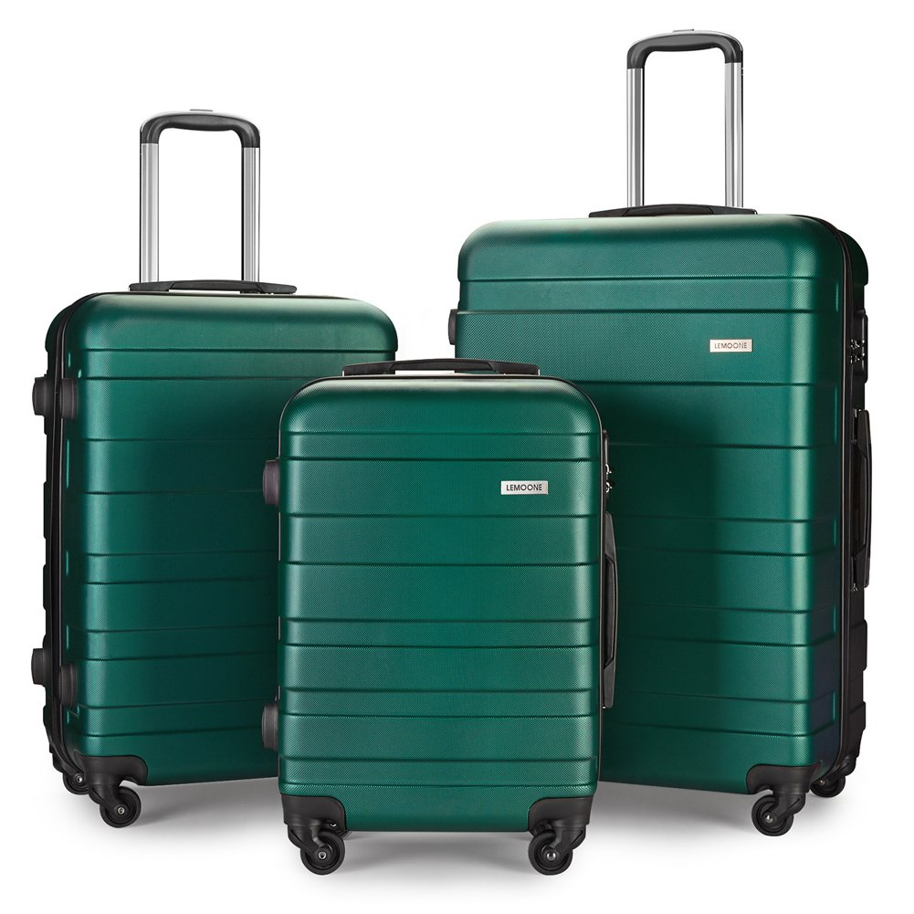 Luggage Set Spinner Hard Shell Suitcase Lightweight Carry On - 3 Piece (20'' 24'' 28'') (GG4)