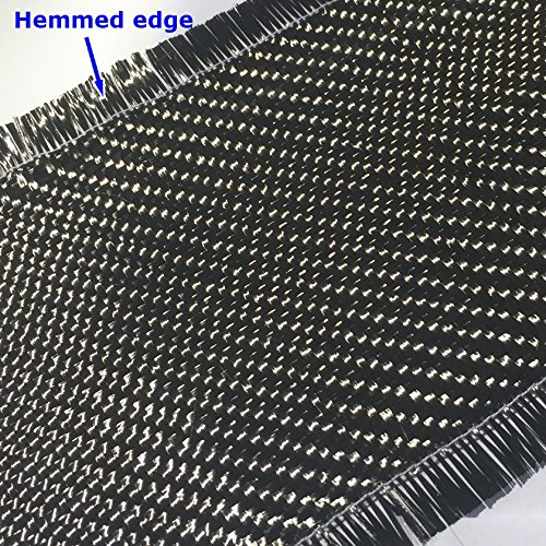 Carbon Fiber FABRIC-2x2 Twill WEAVE-3K 220g-Black 4 in x 1 FT
