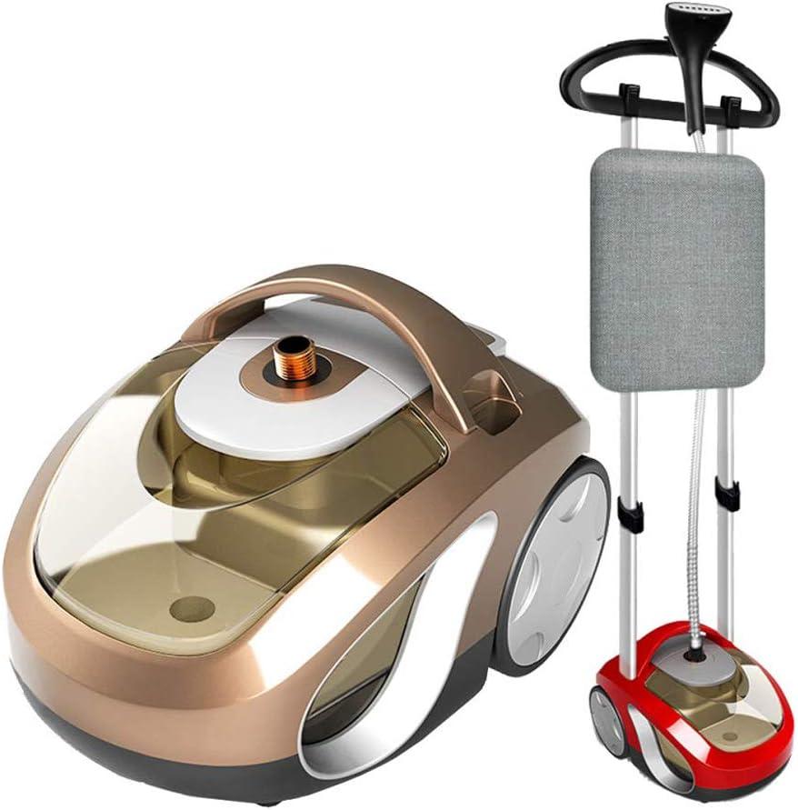 KIVEM Plancha Vapor Vertical Profesional 2000W - para Telas/Ropa - 12 Niveles de Ajuste de Vapor/Calentador Rápido en 20s/Tanque de Agua de 2.3L/Cepillo/Tela e Férula - Perchas,Red