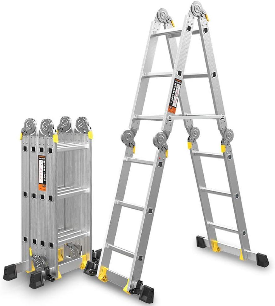 YXLONG Escalera Doble Telescópica, Versátil Plegable Extensible Portátil Multifunción, Escalera para Todas Tus Necesidades De Bricolaje,5.8m: Amazon.es: Jardín