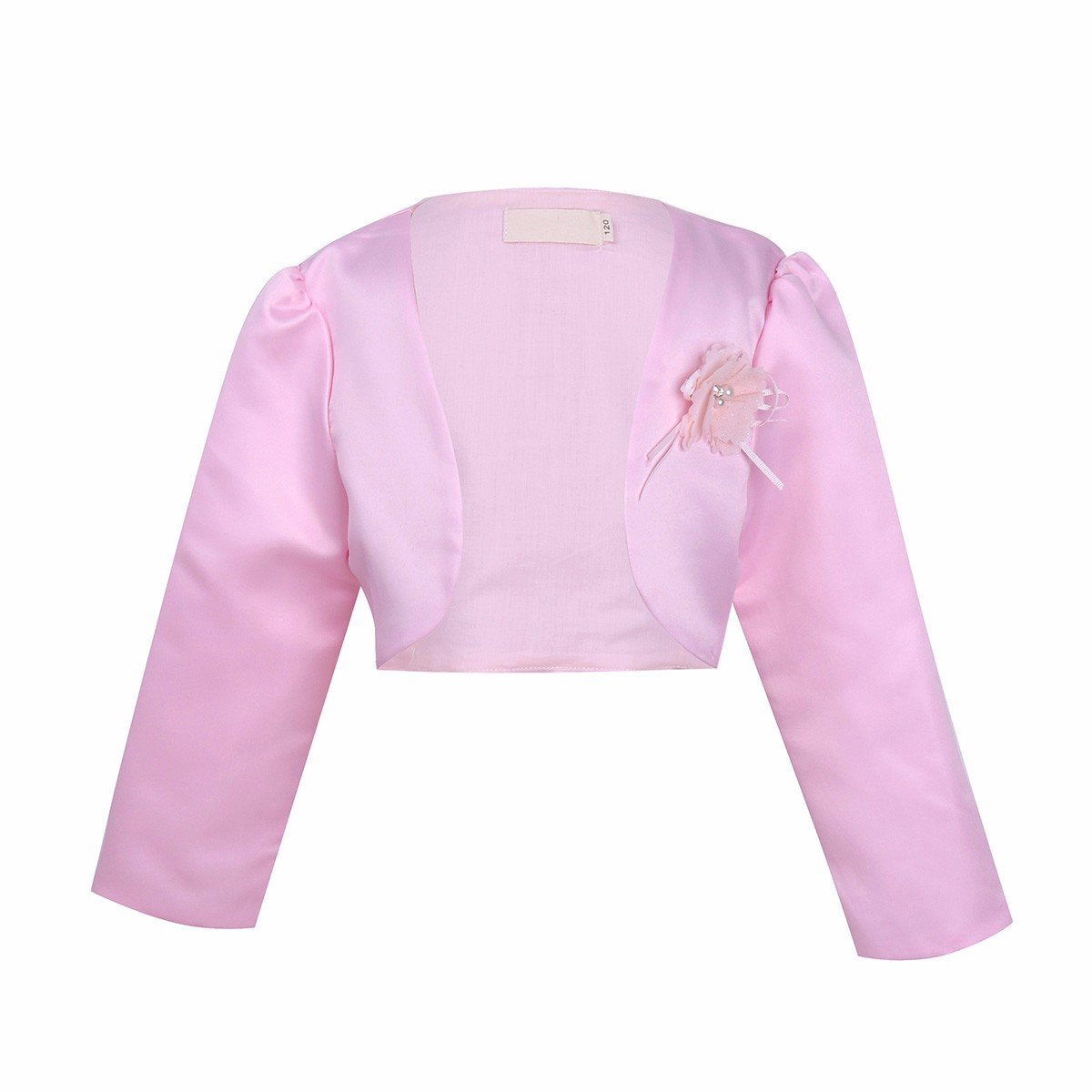 Freebily Kids Girls Long Sleeves Satin Bolero Jacket Shrug Short Cardigan Sweater Dress Cover up