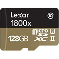Deals on Lexar Professional 1800x 128GB MicroSDXC UHS-II Card