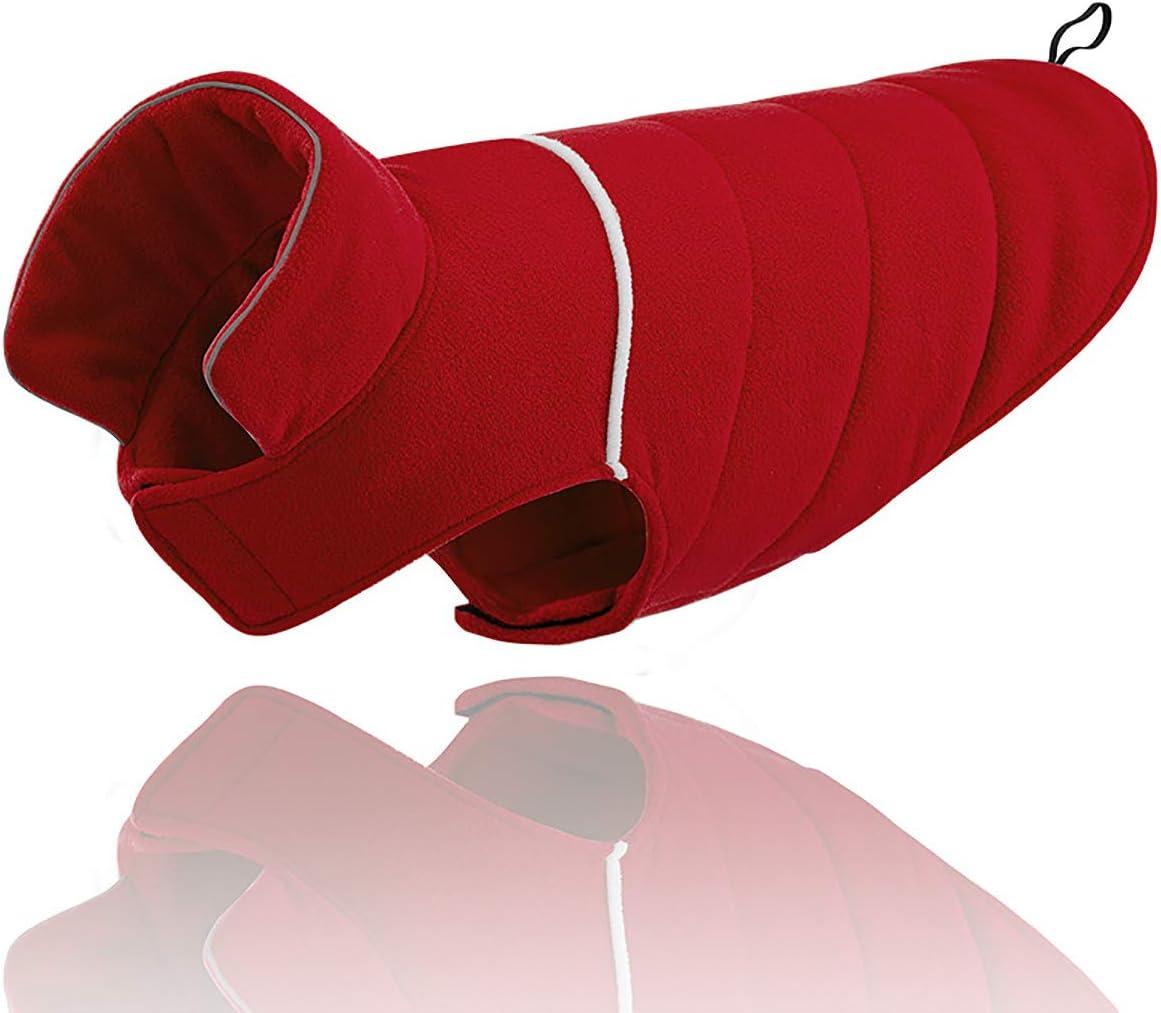 Abrigo reversible para perro para clima fr/ío chaqueta para perro suave y c/álido forro polar mediano color morado extra grande tama/ño peque/ño abrigo para perro