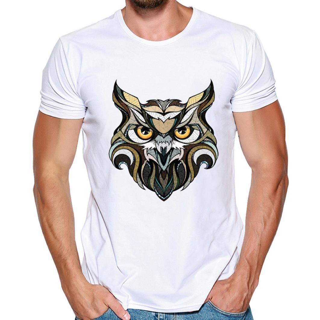 Resplend Hombres Que Imprimen la Blusa de Manga Corta de la Camiseta de la Camiseta de Las Camisas: Amazon.es: Ropa y accesorios
