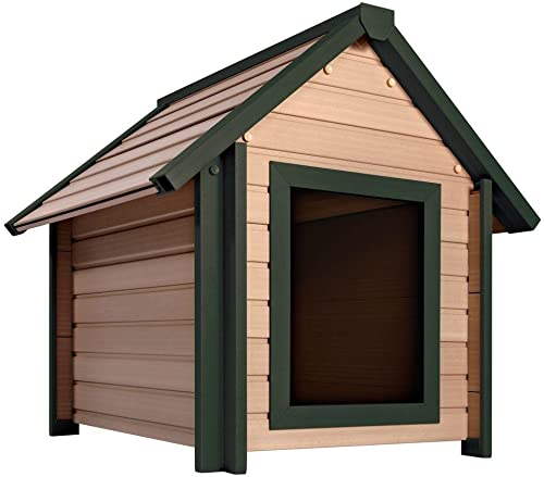 New Age Pet ecoChoice Bunkhouse Style Dog House Maple Green Large up to 80lb ecoFLEX Composite