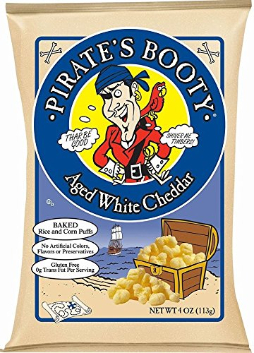 Pirate's Booty Snack Puffs, Aged White Cheddar, 0.5