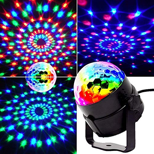 Mini stage lights, EJBOTH Magic ball lamp RGB LED stage effect Rotating...