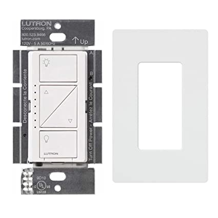 Lutron PD-6WCL-WH Caseta Wireless Smart Lighting Dimmer Switch With Screw Less Wall Plate, White - - Amazon.com