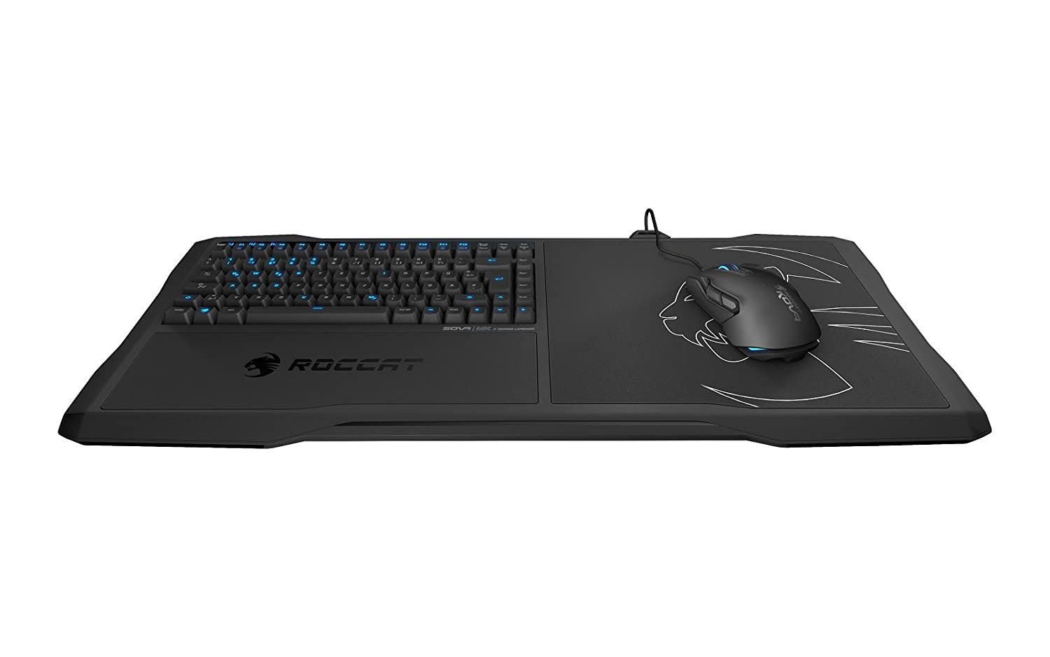 174d79cce21 Roccat Sova - Mechanical Gaming Lapboard for Gaming on the Couch with  Cushion, Illuminated Backlit, Hotkeys, Programmable Keys, Quiet &  Ergonomic, ...