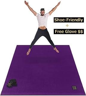 Amazon.com : CAMBIVO Large Yoga Mat, Extra Thick Exercise ...