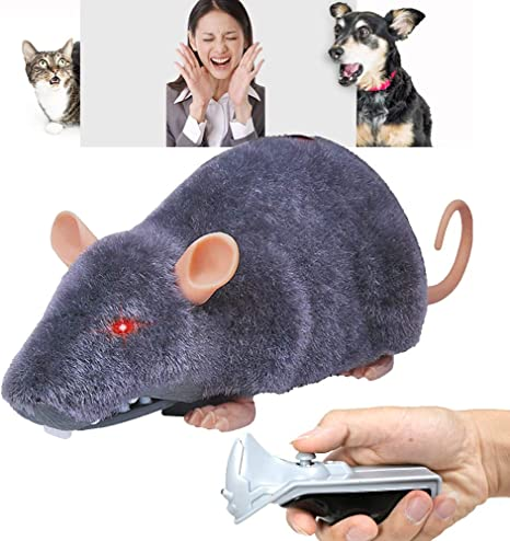 Pet Cat Dog RC Wireless Remote Control Toy Fake Mice Mouse Prank Rat Mock Gift