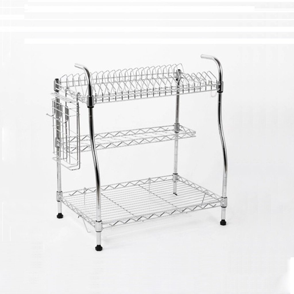 YCT ホーム経済キッチン金属収納ラック3層食器棚シンプルモダンドレンラック食器洗い機ラック食器棚30×54×51.5センチ棚 B07RPZ3HKY