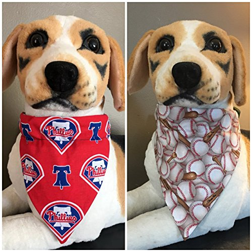 MLB Reversible Pet Bandana Philldelphia Phillies Over The Collar