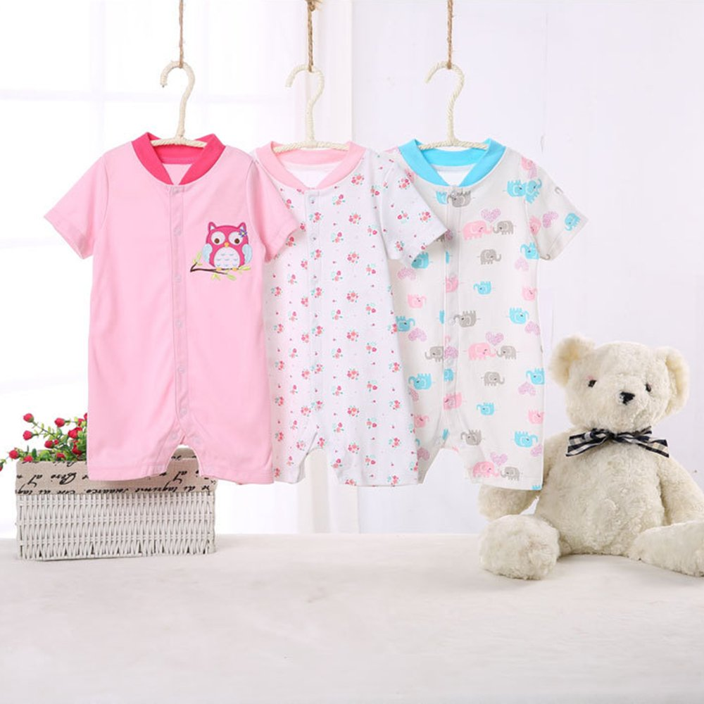 KINDOYO Baby Clothing 3X Infant Baby Kids Jumpsuit Cotton Romper