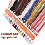 YEESAM ART® New Cross Stitch Kits Advanced Patterns for Beginners Kids Adults - Hand In Hand 11 CT Stamped 34×26 cm - DIY Needlework Wedding Christmas Gifts