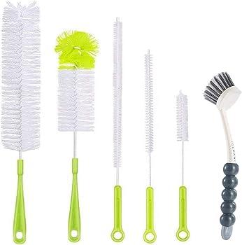 6-Pieces Cinlitek Bottle Cleaning Brush Set