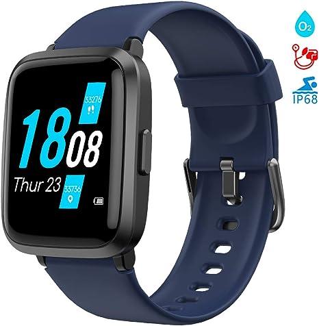 LIFEBEE Smart Watch, Fitness Trackers with Blood Oxygen Monitor(SpO2)Blood Pressure MonitorHeart RateSleep Monitor, Waterproof IP68 Fitness Watch