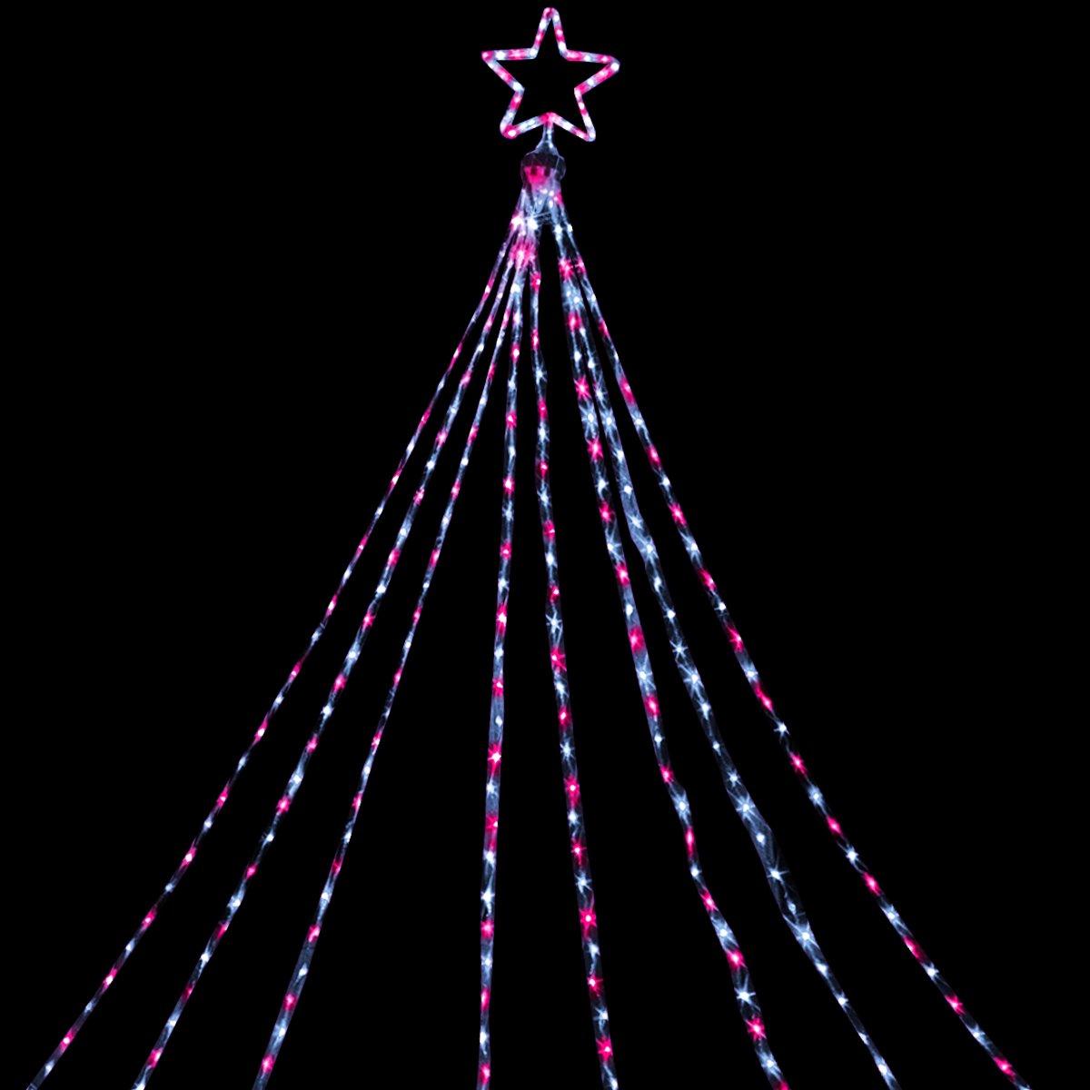 電光ホーム イルミネーション ドレープライト 5m×8本 (ホワイト&ピンク) B01N8PEULK 21384 ホワイト&ピンク ホワイト&ピンク