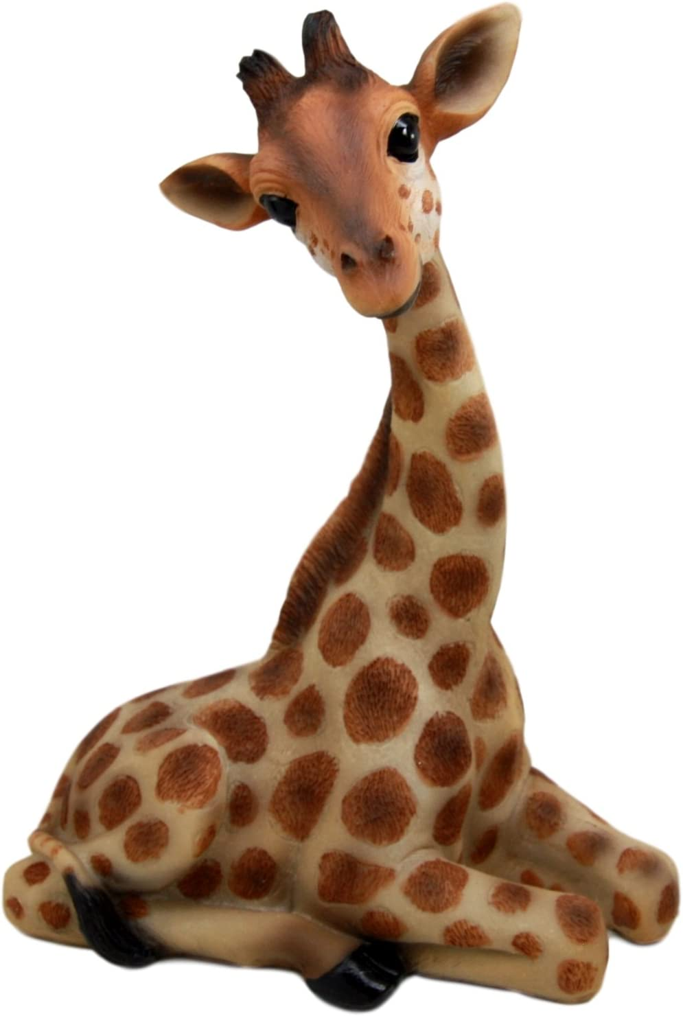 "Ebros Gift 10"" Tall Sitting Safari Adorable Giraffe Decorative Figurine Wild Life Animal Giraffes Collectible"