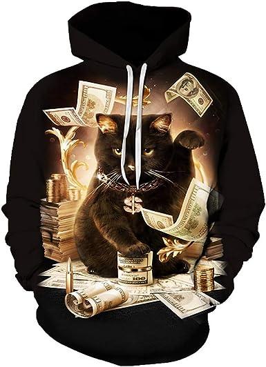 Trend Mens Sloth Party Animal Long Sleeve Gray Cotton Hooded Sweatshirt Leisure