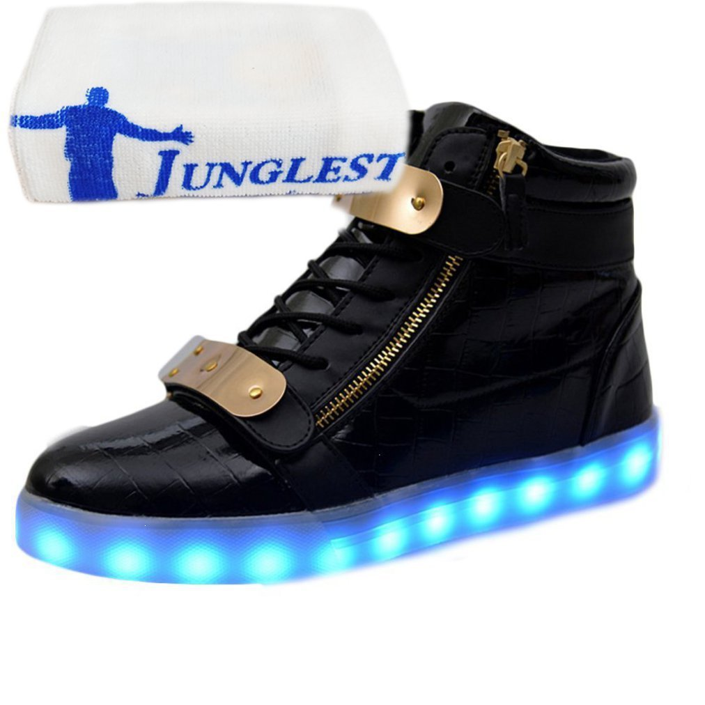 [Presente:pequeña toalla]Blanco - blanco EU 40, cogida hombre con zapatos lentejuelas corta de pareja JUNGLEST® carga luz Casual de manga de para LED manera corta LED de adultos de la
