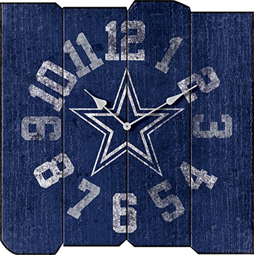 Imperial Officially Licensed NFL Merchandise: Vintage Square Clock, Dallas Cowboys